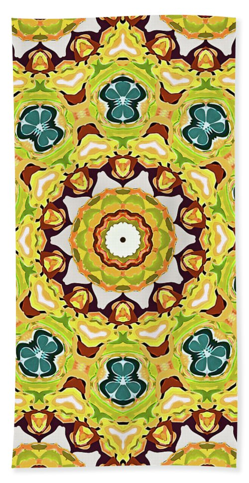 Mandala Art Hand Towel featuring the painting Promise by Jeelan Clark