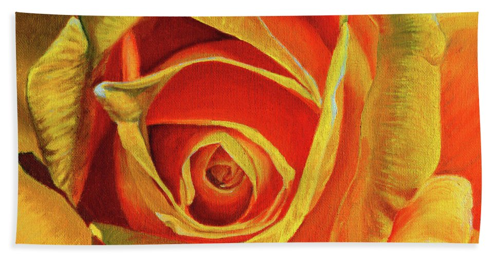 Mother's Day Gift Hand Towel featuring the painting Promise Of A New Beginning by Thu Nguyen