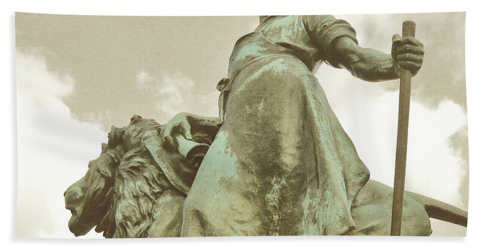 London Bath Sheet featuring the photograph Protector Of The Queen by JAMART Photography