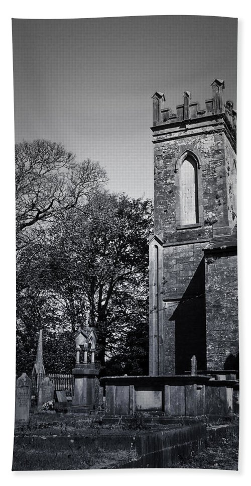 Irish Bath Towel featuring the photograph Protestant Church Macroom Ireland by Teresa Mucha