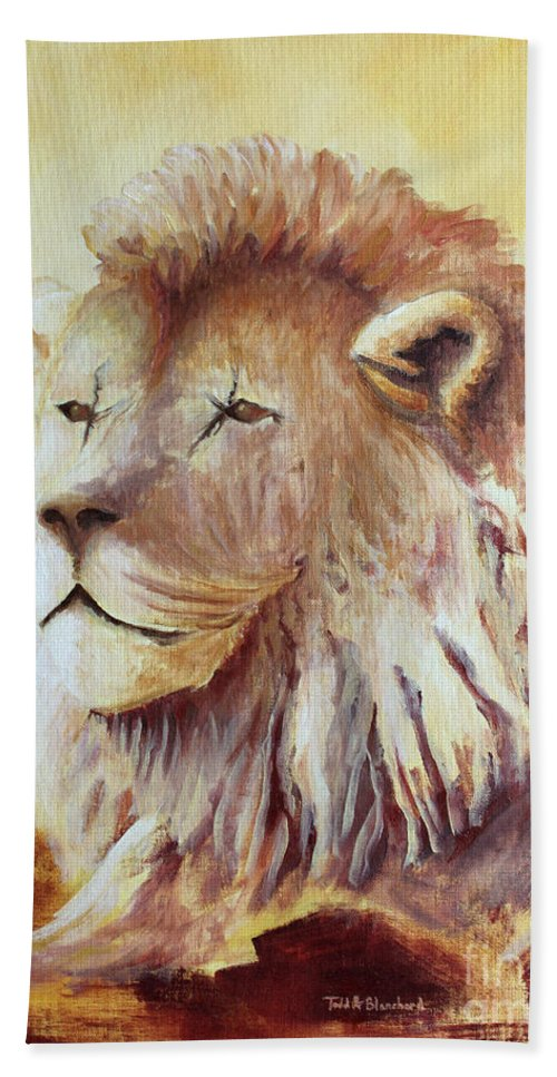 Animal Bath Towel featuring the painting Proud by Todd A Blanchard