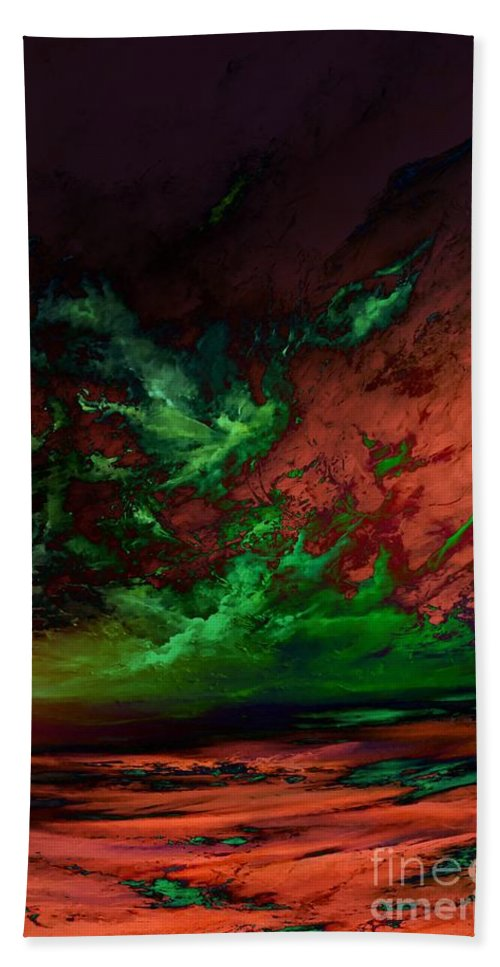 Abstract Hand Towel featuring the digital art Proven True-digital by Lex Halakan
