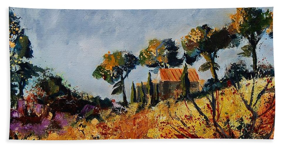 Provence Bath Towel featuring the painting Provence 6741254 by Pol Ledent