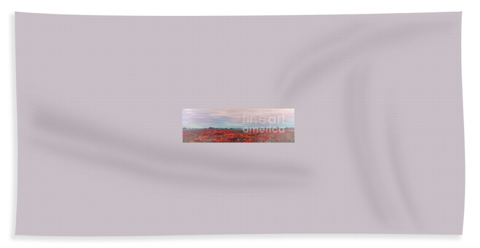 Poppies Bath Sheet featuring the painting Provence Poppies by Nadine Rippelmeyer
