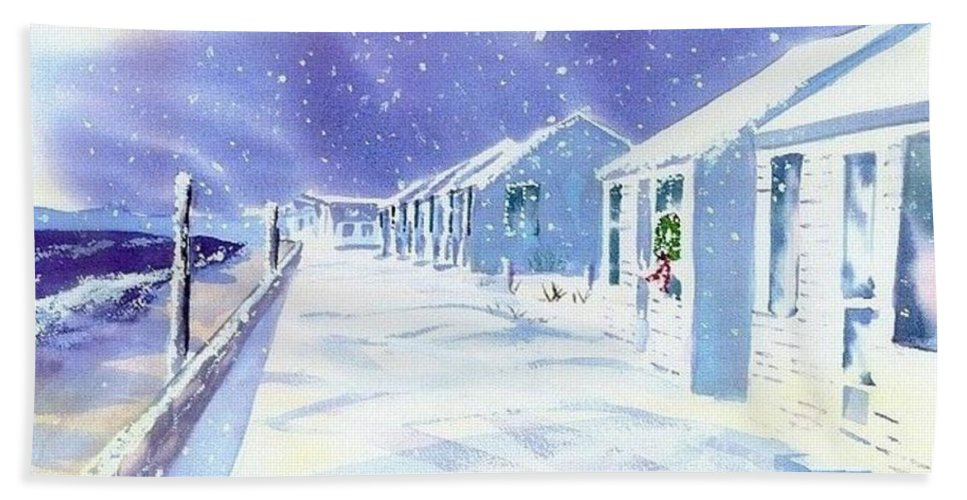 Provincetown Hand Towel featuring the painting Provincetown Winter by Joseph Gallant