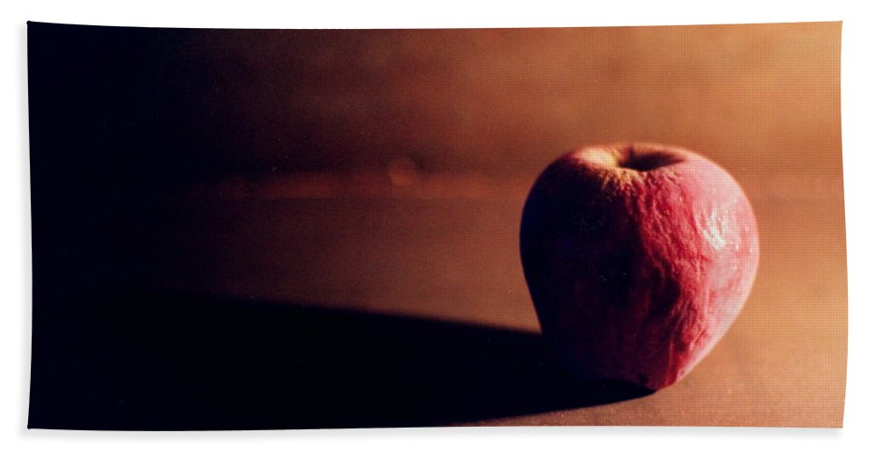 Shriveled Bath Sheet featuring the photograph Pruned Apple Still Life by Michelle Calkins