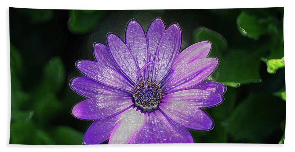 Art Hand Towel featuring the photograph Psychedelic Purple Petals by Ryan Fox