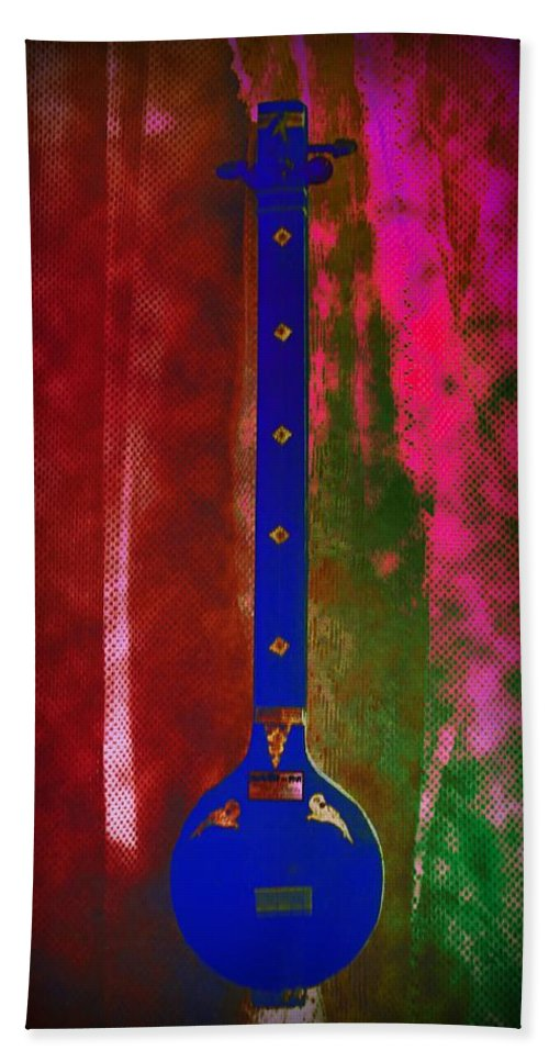 Psychedelic Hand Towel featuring the photograph Psychedelic Tambura by Bill Cannon