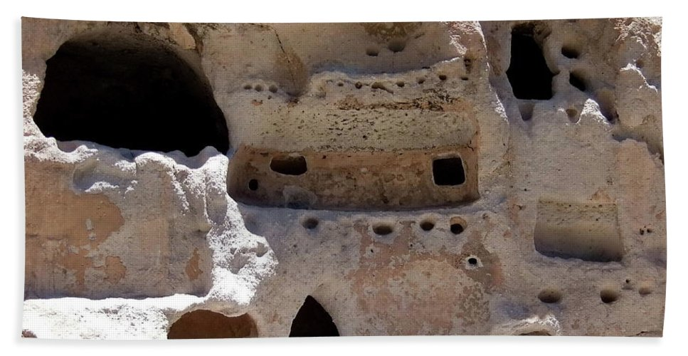 Digital Color Photo Hand Towel featuring the photograph Pueblo Rooms by Tim Richards