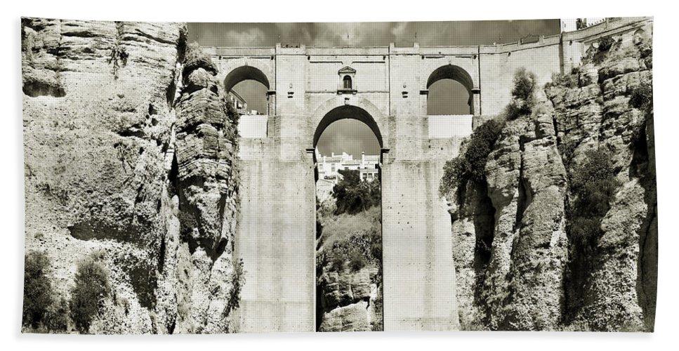 Bridge Bath Towel featuring the photograph Puente Nuevo Tajo De Ronda Andalucia Spain Europe by Mal Bray