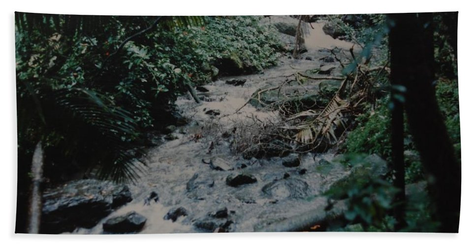 Trees Bath Sheet featuring the photograph Puerto Rico Water by Rob Hans