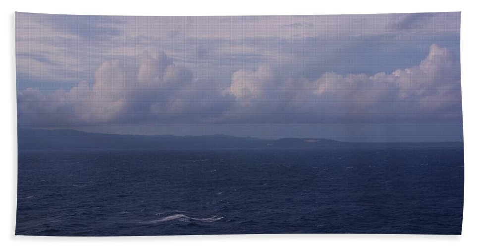 Puerto Princesa Bath Sheet featuring the photograph Puerto Princesa Philippines Sky by Phyllis Spoor