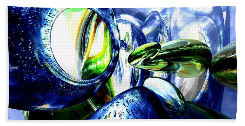 3d Hand Towel featuring the digital art Pulse Of Life Abstract by Alexander Butler