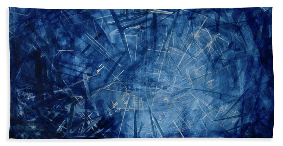 Pulse Bath Sheet featuring the painting Pulsing by Jelena Ignjatovic
