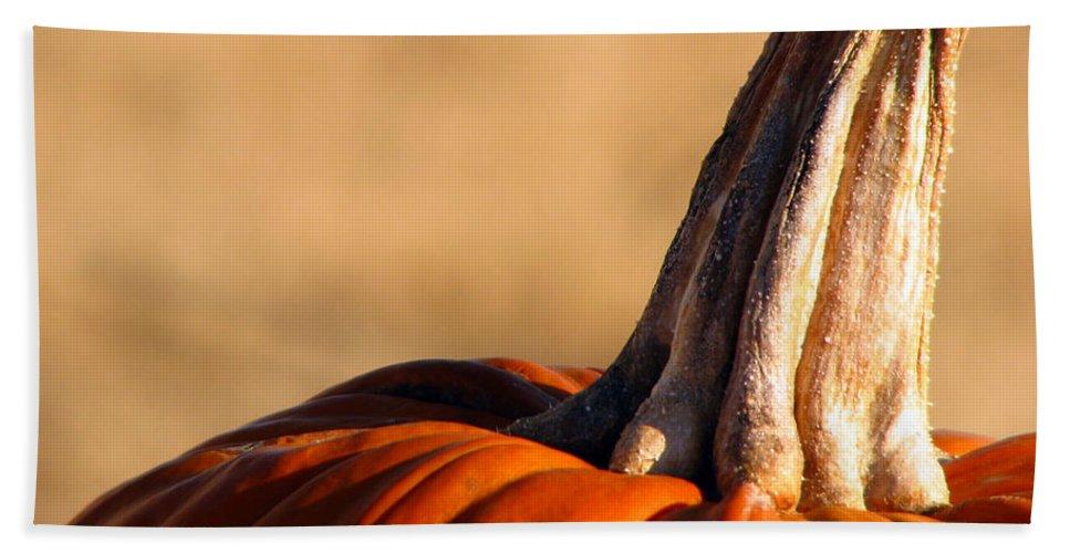 Pumpkins Bath Sheet featuring the photograph Pumpkin by Amanda Barcon