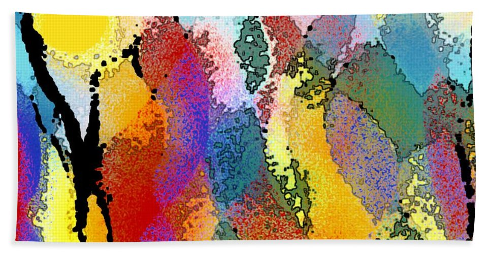 Abstract Bath Sheet featuring the digital art Pure Wonder by Linda Mears