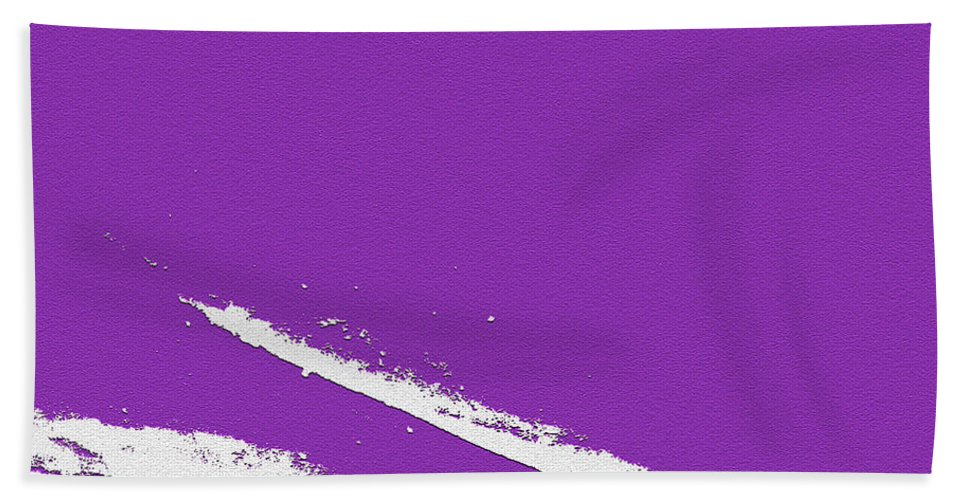 Purple Hand Towel featuring the digital art Purple by Are Lund