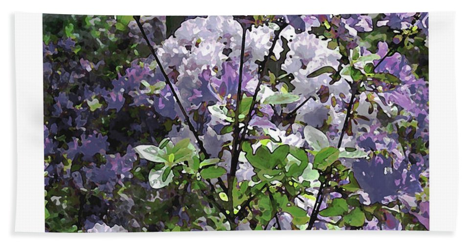Hand Towel featuring the photograph Purple Azaelas by Iris Posner