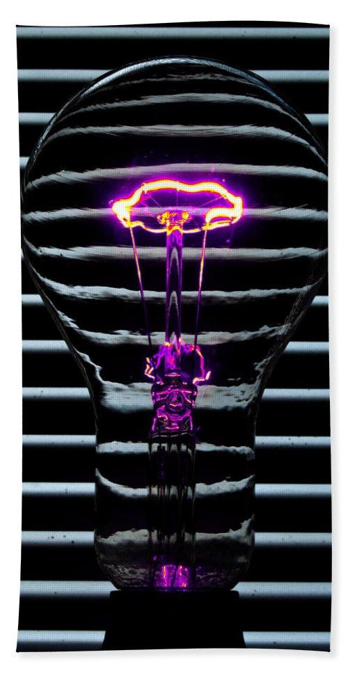 Purple Bath Sheet featuring the photograph Purple Bulb by Rob Hawkins
