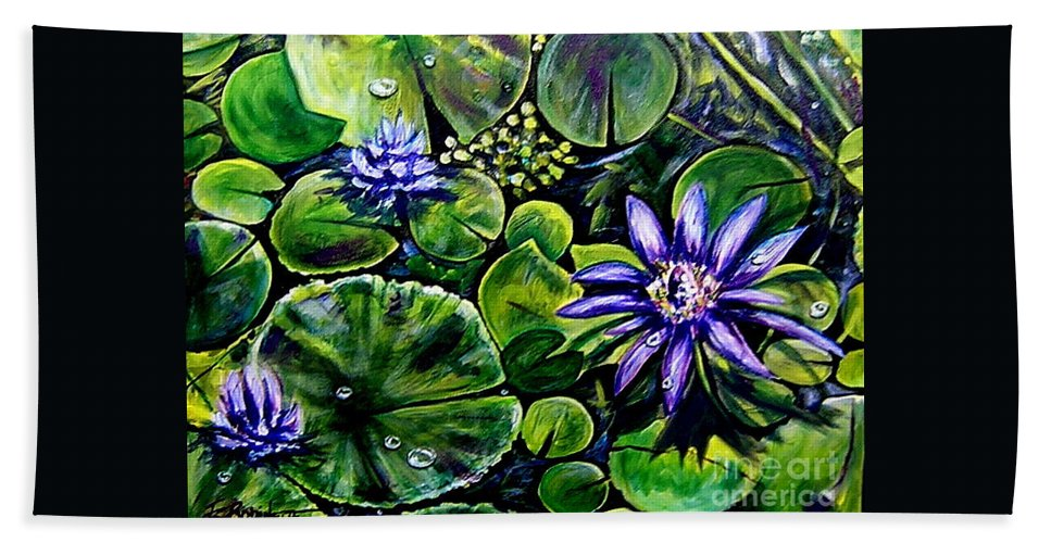 Purple Hand Towel featuring the painting Purple Dawn by Elizabeth Robinette Tyndall