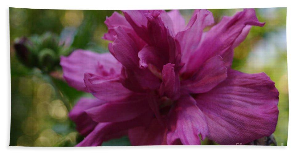 Flowers Bath Sheet featuring the photograph Purple Flower by Jeffery L Bowers