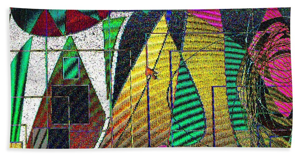 Purple Hand Towel featuring the digital art Purple Haze by Ian MacDonald