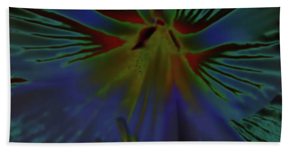 Amaryllis Hand Towel featuring the digital art Purple In The Lily by D Hackett
