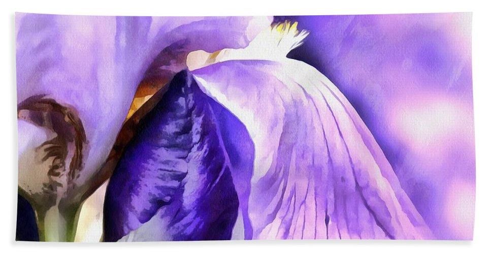 Iris Bath Sheet featuring the photograph Purple Life by Krissy Katsimbras
