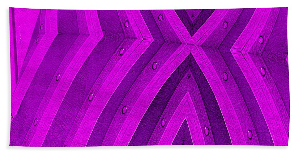 Photography Hand Towel featuring the photograph Purple Maze by Paul Wear