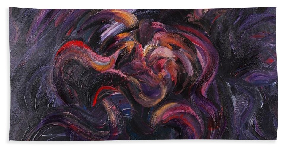 Purple Bath Sheet featuring the painting Purple Passion by Nadine Rippelmeyer