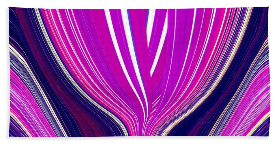 Purple Bath Sheet featuring the digital art Purple Perfection by Tim Allen