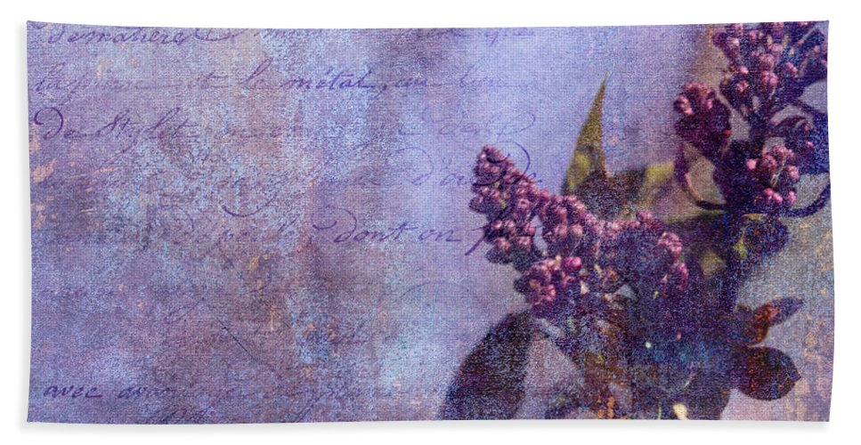 Flower Hand Towel featuring the photograph Purple Prose by Theresa Campbell