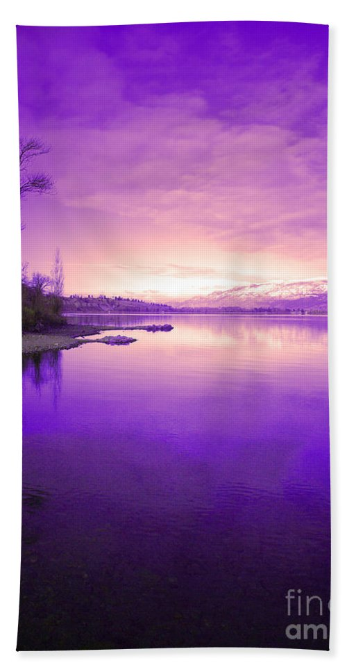 Tree Bath Sheet featuring the photograph Purple Skies by Tara Turner