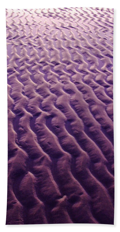 Sand Bath Sheet featuring the photograph Purple Waves Of Sand by Jill Reger