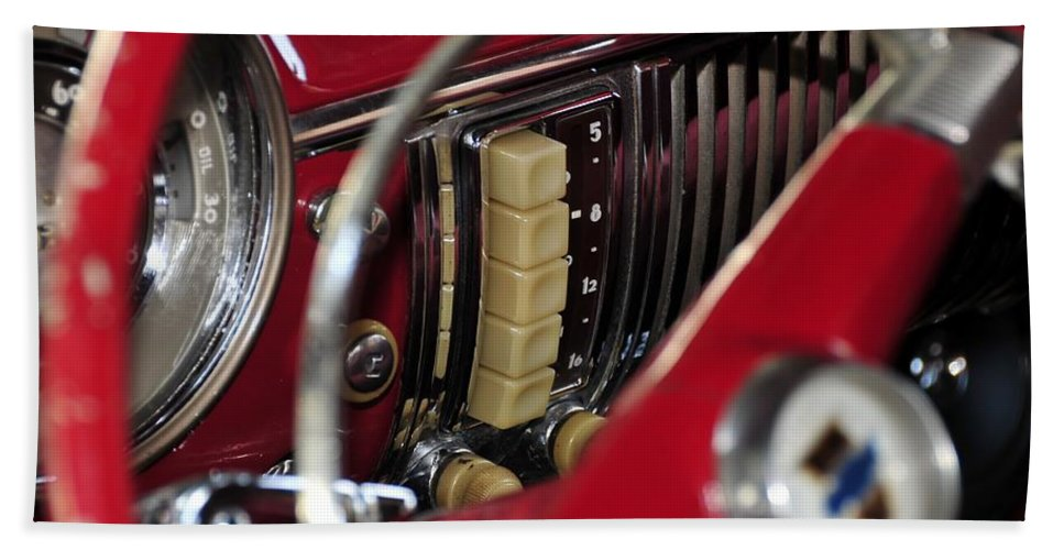 Antic Car Hand Towel featuring the photograph Push Buttons by David Lee Thompson