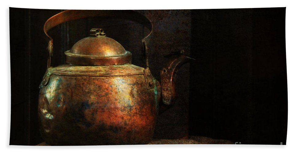 Kitchen Bath Sheet featuring the photograph Put The Kettle On by Lois Bryan