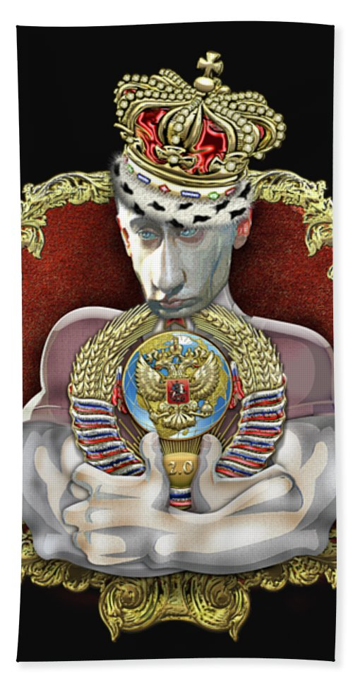 C7 In Stitches Hand Towel featuring the digital art Putin's Dream - U S S R 2.0 by Serge Averbukh