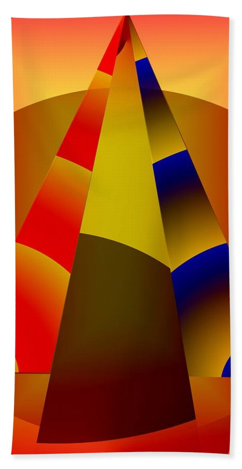 Pyramids Hand Towel featuring the digital art Pyramids Pendulum by Helmut Rottler