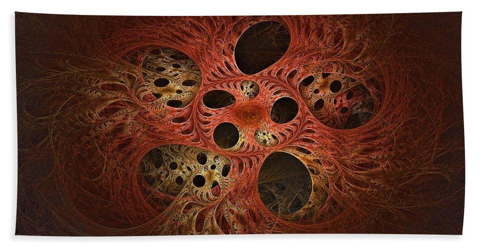 Hand Towel featuring the digital art Quantum Tangles by Doug Morgan