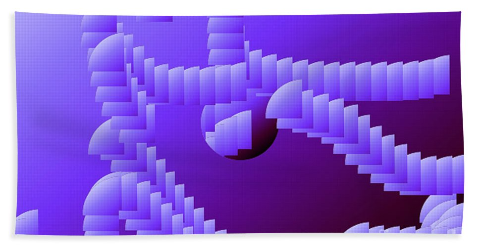 Digital Bath Sheet featuring the digital art Quarter Shell by Ron Bissett