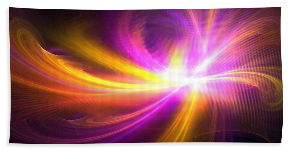 Apophysis Hand Towel featuring the digital art Quasi-stellar by Kim Sy Ok
