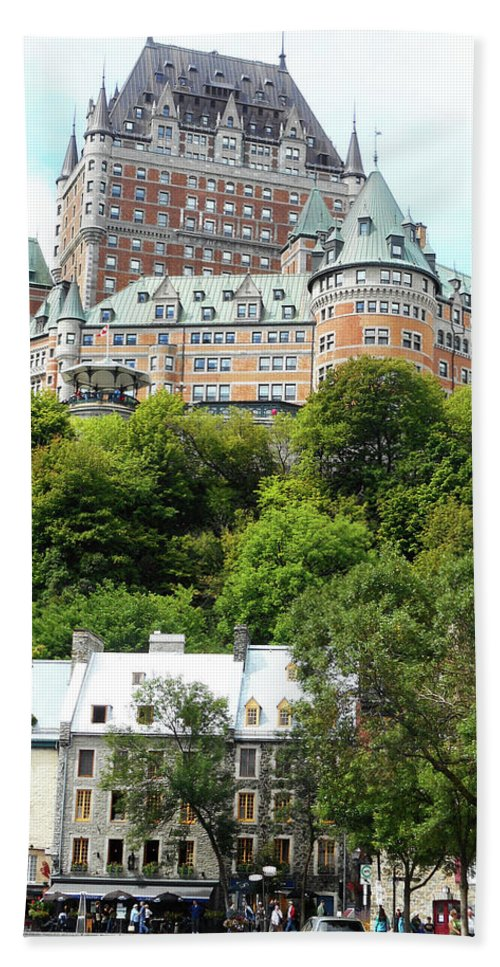 Quebec City Hand Towel featuring the photograph Quebec City 69 by Ron Kandt