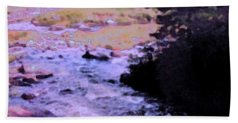 Quebec Bath Sheet featuring the photograph Quebec River by Ian MacDonald