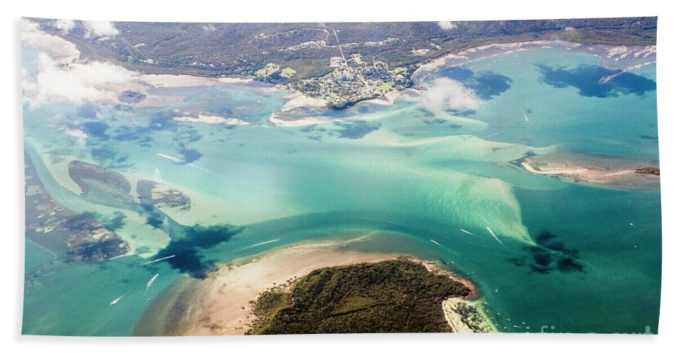 Sea Bath Sheet featuring the photograph Queensland Island Bay Landscape by Jorgo Photography - Wall Art Gallery