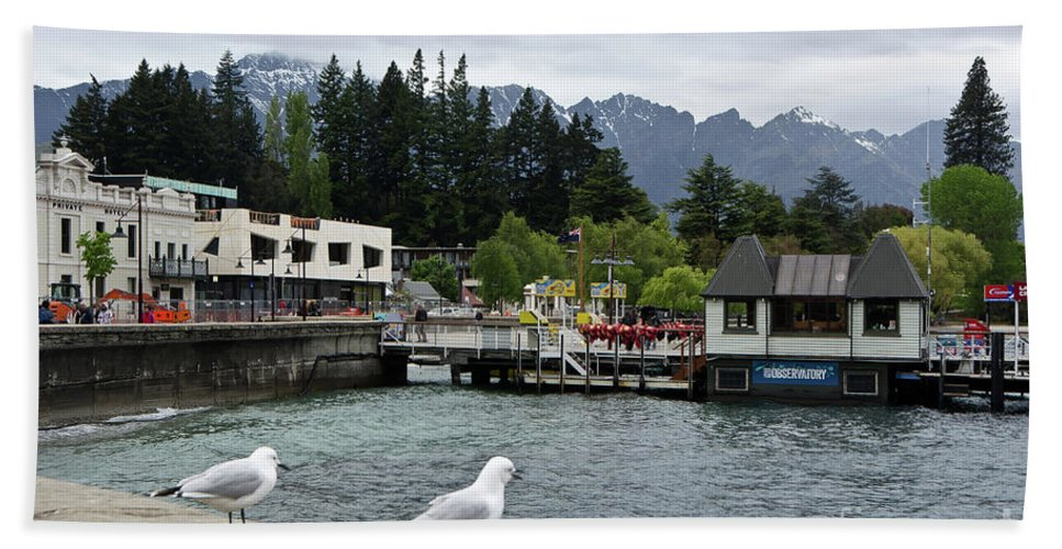 Queenstown Bath Sheet featuring the photograph Queenstown, New Zealand by Yurix Sardinelly