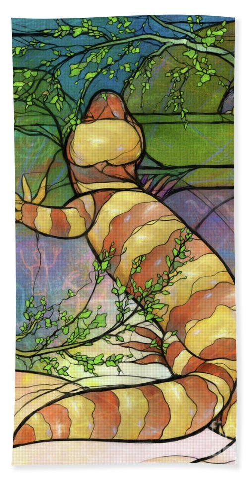 Palo Verde Hand Towel featuring the digital art Quiet As A Mouse by Randy Wollenmann