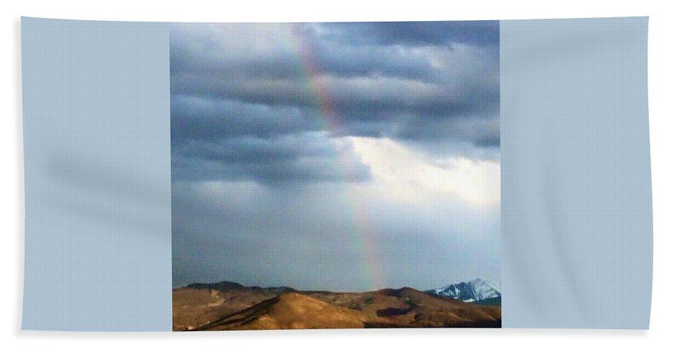 Landscape Bath Sheet featuring the photograph Quiet Rainbow by Mona Archuleta-Jones