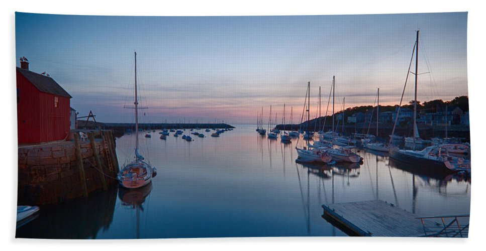 #jefffolger Hand Towel featuring the photograph Quiet Solitude Rockport Harbor by Jeff Folger