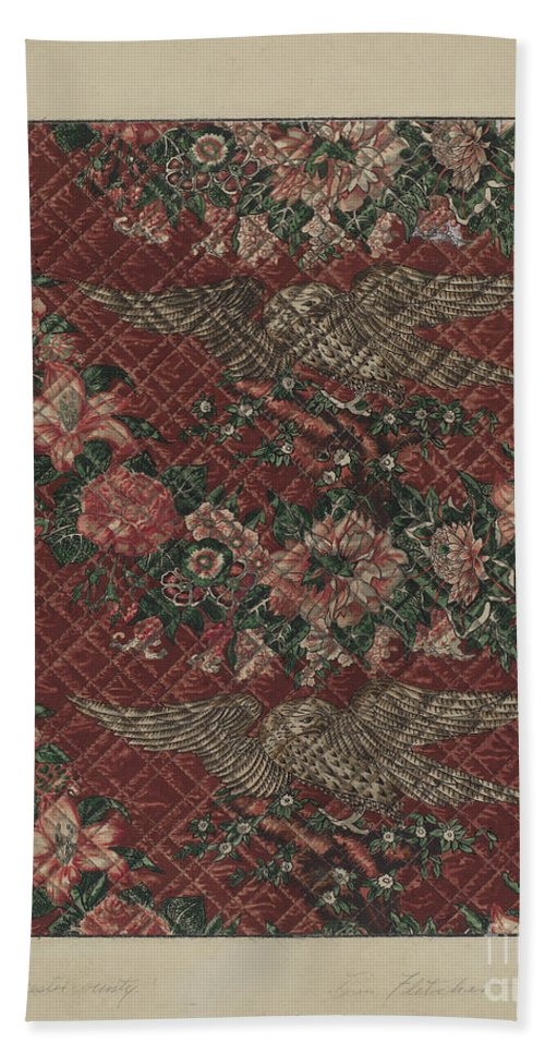 Hand Towel featuring the drawing Quilt by Daniel Fletcher