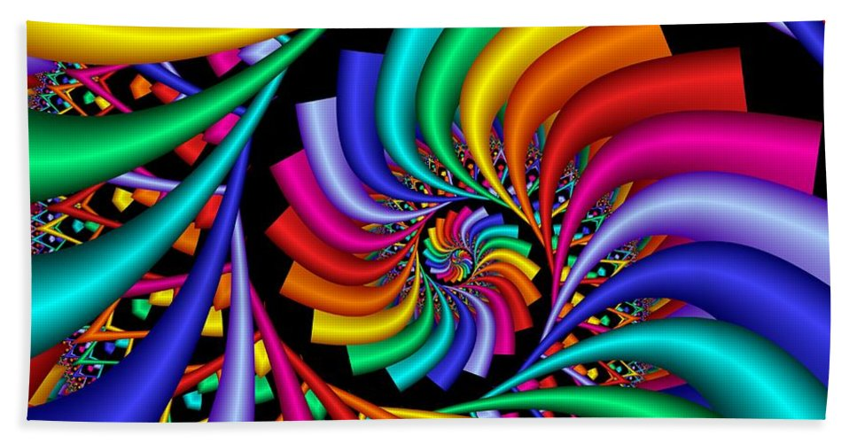 3d Hand Towel featuring the digital art Quite Different Colors -18- by Issabild -